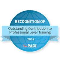 PADI award for Thresher Shark Divers 2014